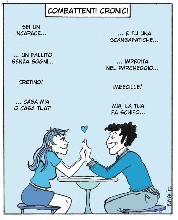 Tipi di coppie #2 - Combattenti Cronici, Ambivalenti e Fratellini. - Immagine: © 2012 Costanza Prinetti