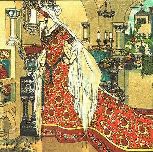 LA Regina di Biancaneve, lo Specchio e la Dismorfofobia. - Immagine: Author: Franz Jüttner This image is in the public domain because its copyright has expired.