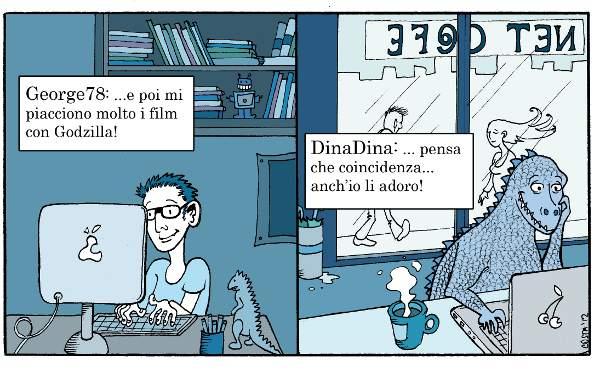 Amore online: relazioni reali con match virtuali. - Immagine: © Costanza Prinetti 2012.