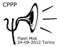 Il Flash Mob davanti all'Ordine degli Psicologi del Piemonte