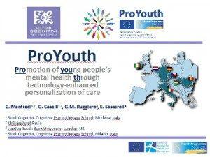 ProYouth: presentazione della piattaforma Web per la Promozione della Salute Mentale nei Giovani - SITCC 2012