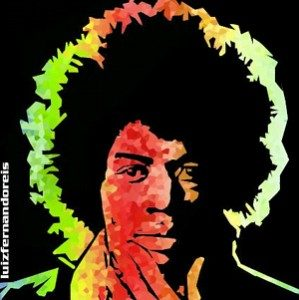 Jimi Hendrix. - Immagine: © Louis Fermando : Sonia Maria. Licenza Creative Commons 2.0