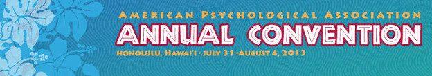 APA 2013 Congress Hawaii Honolulu American Psychological Association