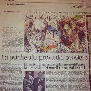 Giancarlo Dimaggio - Corriere della Sera 11-03-2014- La psiche alla prova del pensiero - Immagine:  © Corriere della Sera 2014