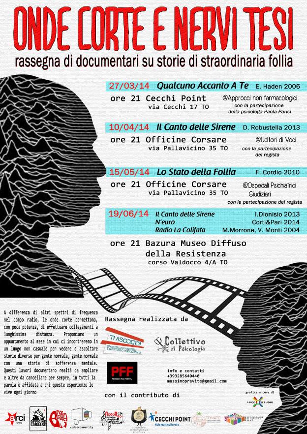 Onde Corte e Nervi Tesi - Rassegna di Documentari su Storie di Straordinaria Follia - Collettivo Psicologia Torino - 2014