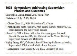 Supervisione psicoterapia - ADDRESSING SUPERVISION PROCESS AND OUTCOMES - APA 2014 WASHINGTON DC -