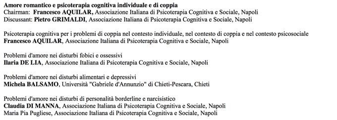 Amore romantico e psicoterapia cognitiva individuale e di coppia