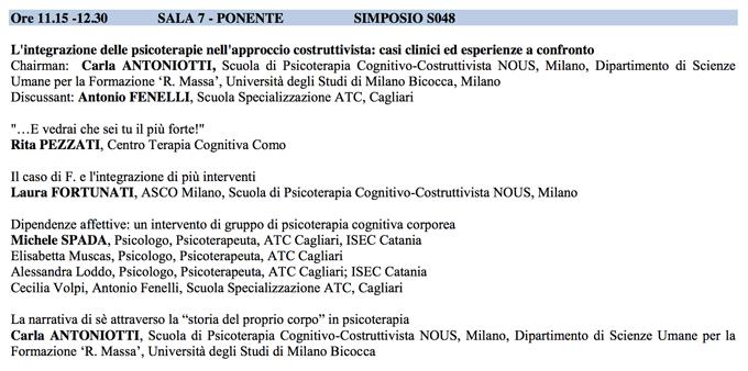 Integrazione Psicoterapie - SITCC 2014