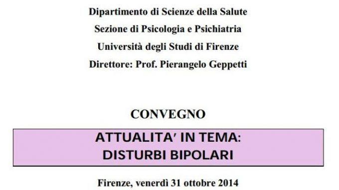 Attualità in Psicoterapia in tema di Disturbo Bipolare – Report dal convegno – Firenze, 31 Ottobre 2014
