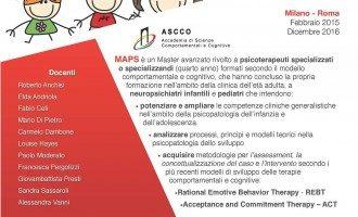 Master Avanzato in Psicoterapia cognitivo-comportamentale dello Sviluppo