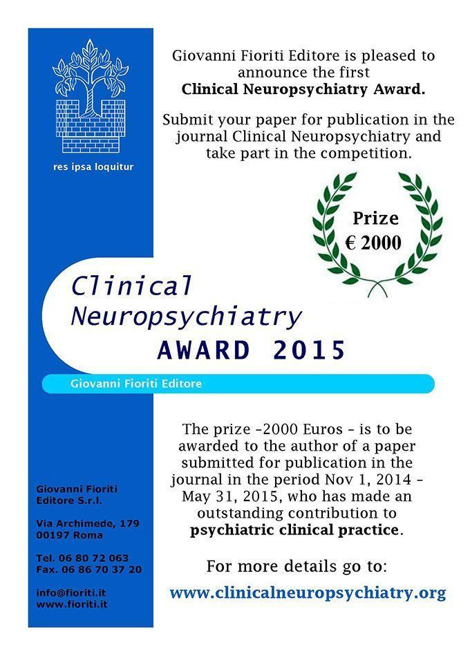Clinical Neuropsichiatry Award 2015