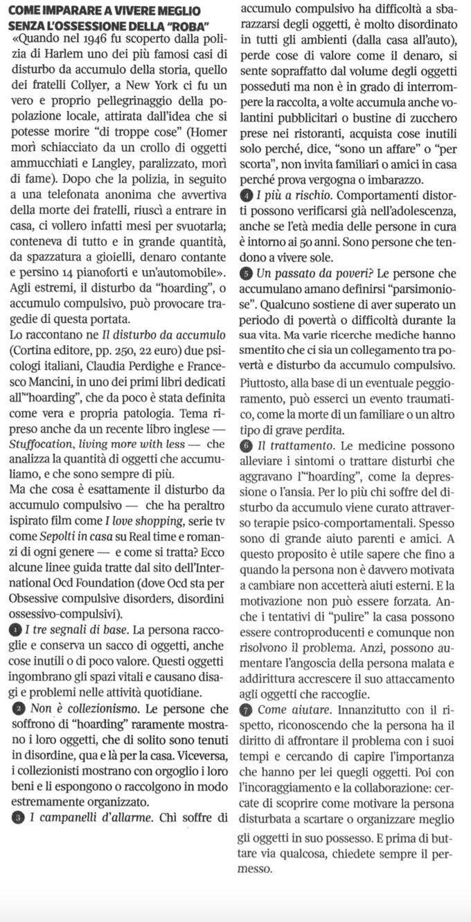 Hoarding - articolo