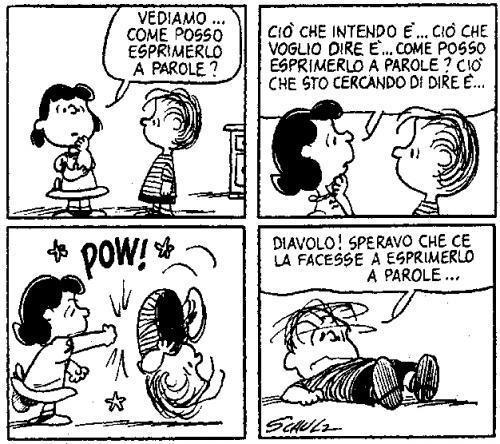 Lucy esprime la sua rabbia - Peanuts 02