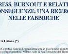 Stress, burnout e relative conseguenze: una ricerca nelle fabbriche – Forum di Assisi 2015