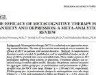 Efficacia della terapia metacognitiva nel trattamento dell'ansia e della depressione