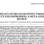 Efficacia della terapia metacognitiva