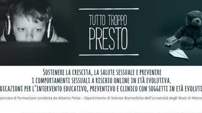 Tutto troppo presto: l'educazione sessuale – Report dal seminario con Alberto Pellai