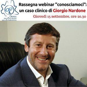 Nardone - I nuovi webinars dell'Ordine Psicologi Lombardia in arrivo - Da Settembre a Dicembre 2016