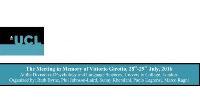 Dal convegno sui Mental Modes a Londra, 28 e 29 luglio 2016 – Report del Prof. Bruno Bara
