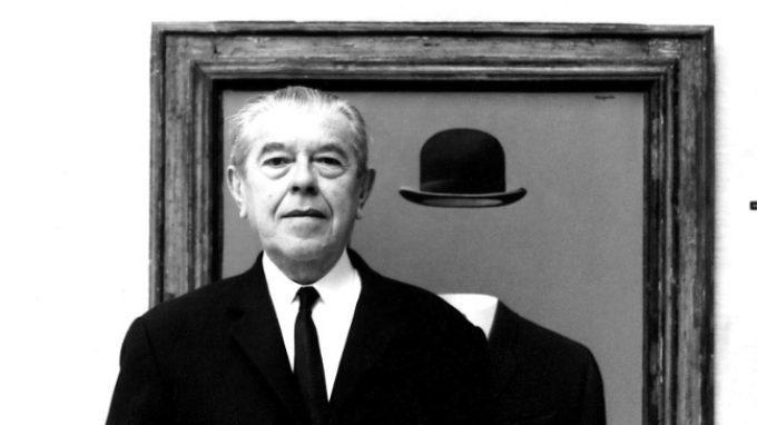 Gli amanti senza volto di René Magritte
