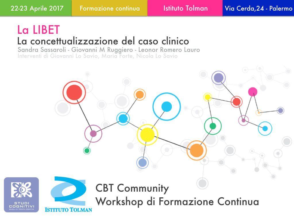 LIBET concettualizzazione del caso clinico - Workshop Palermo - Istituto Tolman
