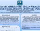 Il ruolo del perfezionismo e del workaholism nella sindrome del burnout: uno studio sperimentale – Riccione, 2017