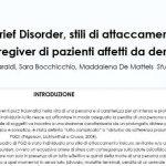 Prolonged grief disoder e attaccamento in caregiver di pazienti affetti da demenza