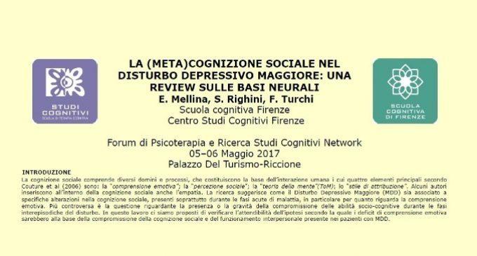La (meta)cognizione sociale nel disturbo depressivo maggiore: una review sulle basi neurali – Riccione, 2017