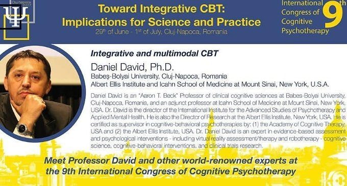 Daniel David: lectio magistralis su Integrative e Multimodal CBT – Report dall' International Congress of Cognitive Psychotherapy, Romania 2017