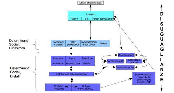 Salute mentale: oltre i fattori di rischio individuali, il ruolo dei determinanti sociali-grafico