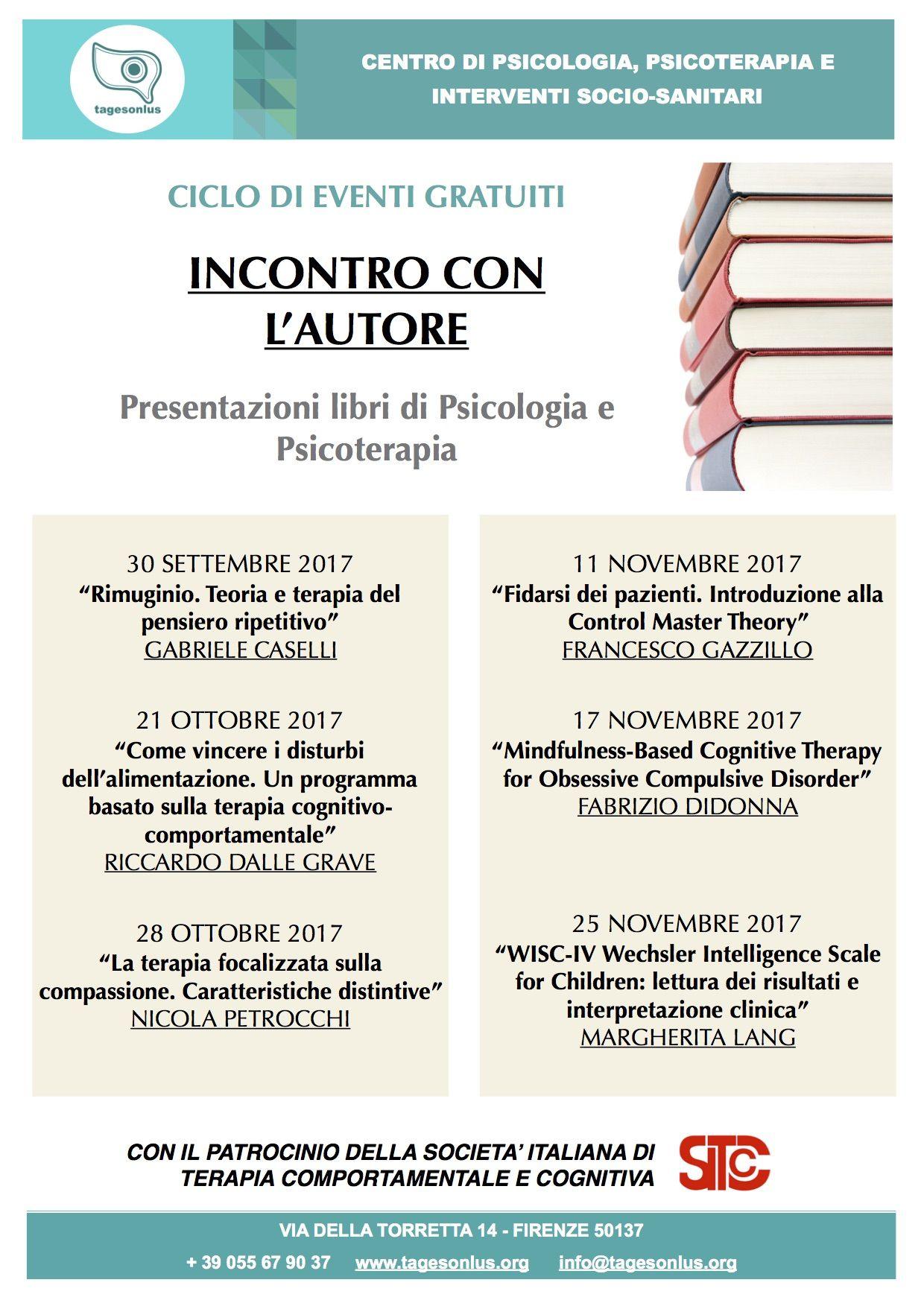 Ciclo di eventi gratuiti: Incontro con l'autore - Firenze
