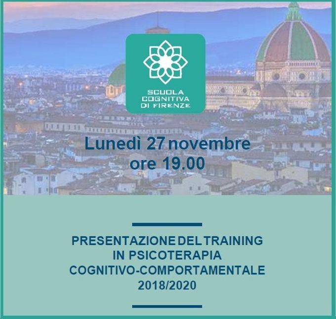 Presentazione del Training in Psicoterapia Cognitivo-Comportamentale - Firenze