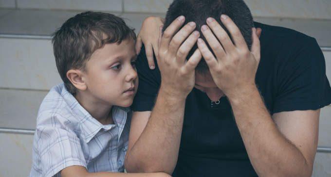 Padre depresso? Quanto incide sulla salute dei figli