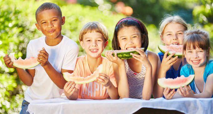 Alimentazione salutare: bambini più felici