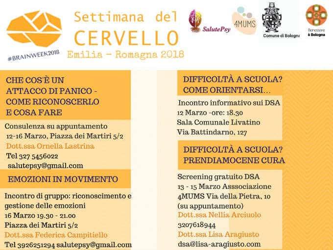 Settimana del cervello 2018 le iniziative a Bologna, dal 12 al 18 Marzo
