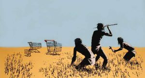 Banksy - Trolley Hunters - 2006