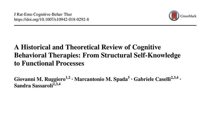 Breve storia teorica della terapia cognitivo comportamentale tra funzionalismo e strutturalismo