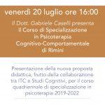 Scuola di Psicoterapia di Rimini: presentazione del nuovo corso quadriennale