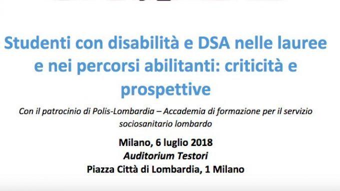 Studenti con disabilità e DSA nelle lauree e nei percorsi abilitanti: criticità e prospettive – Report dal convegno