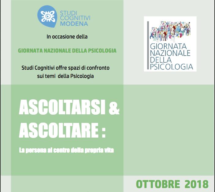 Ascoltarsi e Ascoltare incontri gratuiti con psicologi - Modena, Ottobre