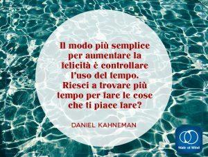 Kahneman - La felicità e l'uso del tempo
