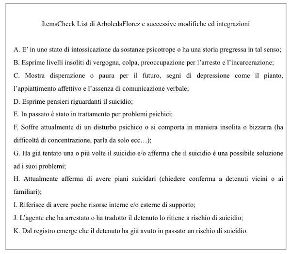 Patologia psichica e valutazione del rischio suicidario in carcere - Imm3