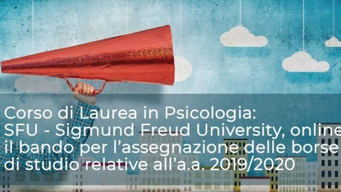Studiare Psicologia alla Sigmund Freud University: online il bando per le borse di studio riferite all'anno accademico 2019/2020