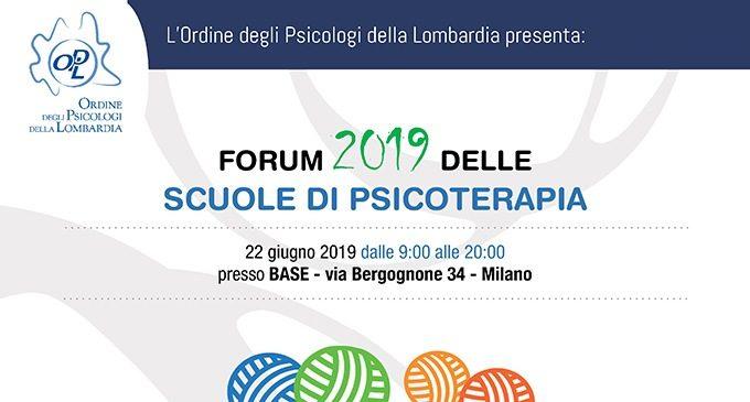 Forum 2019 delle Scuole di Psicoterapia -Evento OPL a Milano 22 Giugno MAIN