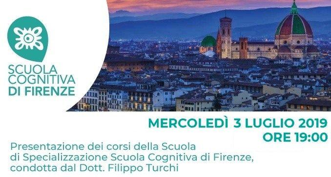 Scuola Cognitiva di Firenze presentazione della Scuola di Psicoterapia 3 LUGLIO 2019
