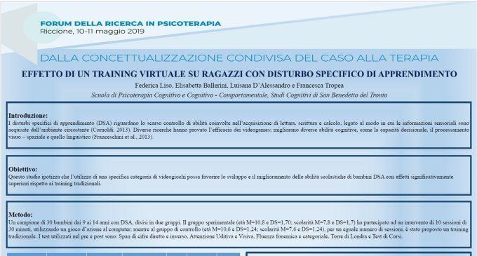 Effetto di un training virtuale su ragazzi con disturbo specifico di apprendimento – Riccione, 2019