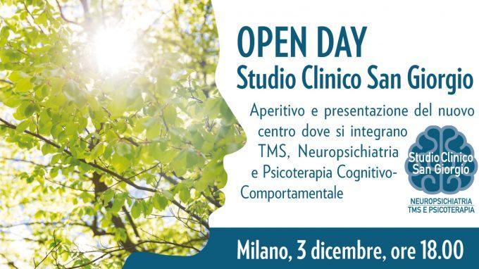 Open Day Studio Clinico San Giorgio: aperitivo e presentazione del nuovo centro – Milano, 03 Dicembre 2019