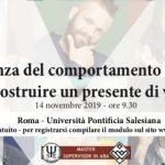 La scienza del comportamento in Italia: per costruire un presente di valore - Roma, 14 Novembre 2019