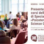 Psicoterapia e Scienze Cognitive Genova: presentazione della Scuola di Psicoterapia – 14 Gennaio 2020