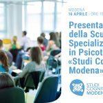 Studi Cognitivi Modena: presentazione della Scuola di Psicoterapia - EVENTO IN DIRETTA STREAMING, 16 Aprile 2020
